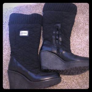 Guess Black Boots with Heel